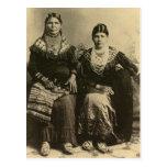 Retrato indio del vintage del nativo americano postal