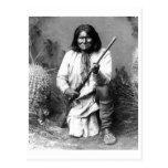 Retrato indio del vintage del nativo americano tarjetas postales