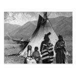 Retrato indio del vintage del nativo americano tarjeta postal