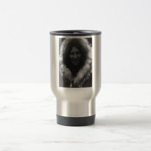 Retrato indio del vintage del nativo americano tazas de café