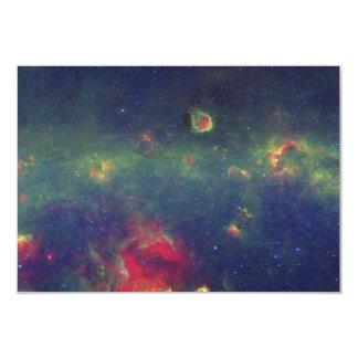 """Retrato infrarrojo de la galaxia interna de la vía invitación 3.5"""" x 5"""""""