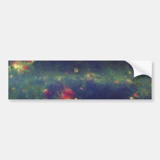 Retrato infrarrojo de la galaxia interna de la vía pegatina para auto
