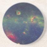 Retrato infrarrojo de la galaxia interna de la vía posavasos cerveza