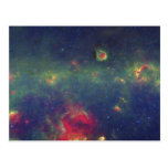 Retrato infrarrojo de la galaxia interna de la vía tarjeta postal