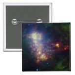 Retrato infrarrojo que revela las estrellas y el pin cuadrada 5 cm