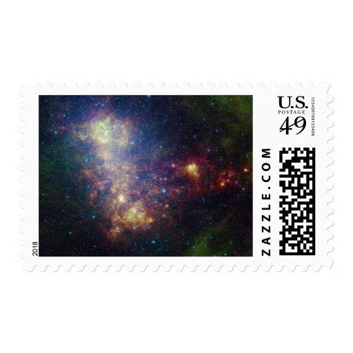Retrato infrarrojo que revela las estrellas y el sellos