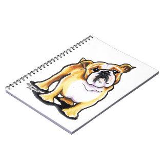 Retrato inglés blanco del dogo del cervatillo libro de apuntes con espiral