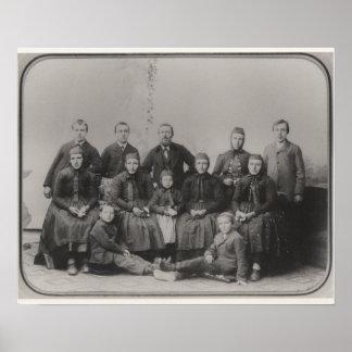 Retrato inmigrante de la familia póster