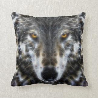 Retrato inspirado del diseño del lobo cojín decorativo