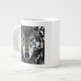 Retrato inspirado del lobo taza grande