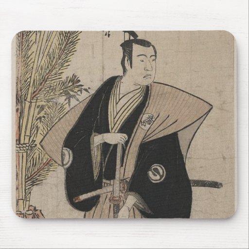 Retrato integral de un guerrero C. 1780 del samura Tapetes De Ratón