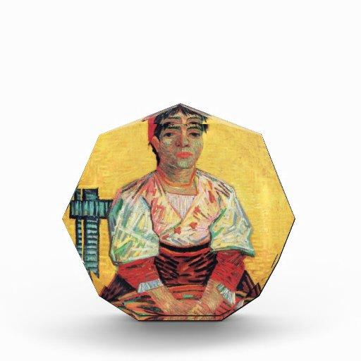 Retrato italiano de la mujer que pinta a Vincent v