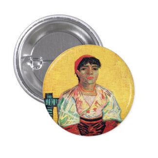 Retrato italiano de la mujer que pinta a Vincent v Pin Redondo De 1 Pulgada