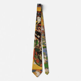 Retrato japonés del vintage de Oiran de la Corbata