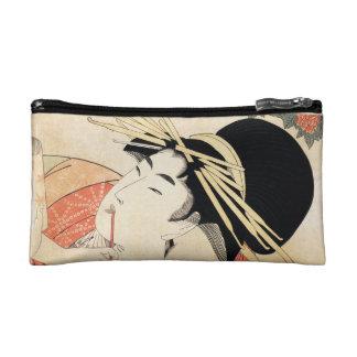 Retrato japonés fresco del geisha del ukiyo-e del