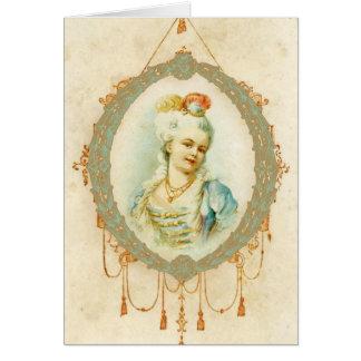 Retrato joven de Marie Antonieta Tarjetón
