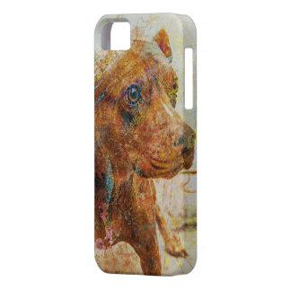 retrato kalimagic del perro del perrito del RASGÓN iPhone 5 Cárcasas