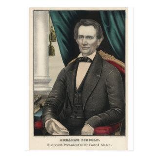 Retrato Kellogg del color de presidente Abraham Li Postales