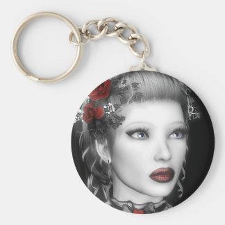 Retrato Keyhanger de BW Llavero Redondo Tipo Pin