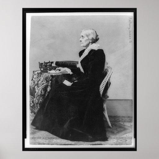 Retrato lateral de Susan B. Anthony Póster