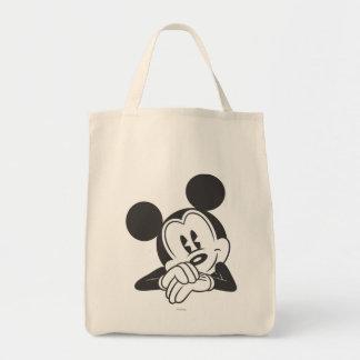 Retrato lindo clásico de Mickey el | Bolsa Tela Para La Compra