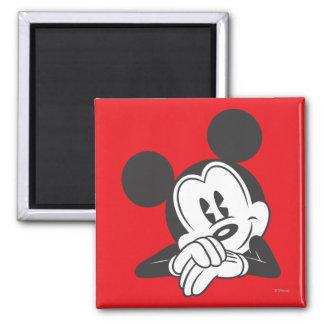 Retrato lindo clásico de Mickey el | Imán Cuadrado
