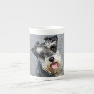 Retrato lindo de la foto del perro miniatura del S Taza De Porcelana