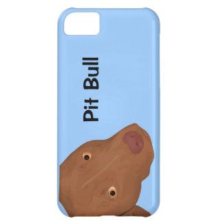 Retrato lindo del pitbull carcasa iPhone 5C