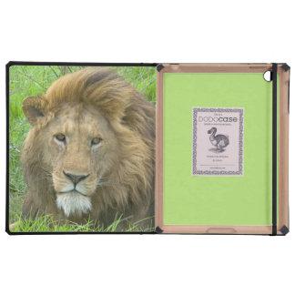 Retrato masculino del león, la África del Este, Ta iPad Cárcasas