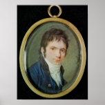 Retrato miniatura de Ludwig van Beethoven, 1802 Poster