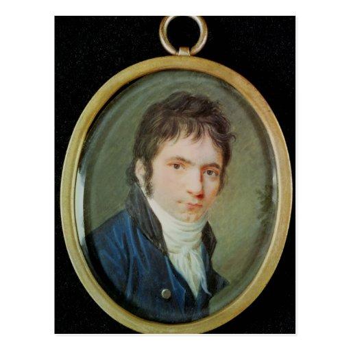 Retrato miniatura de Ludwig van Beethoven, 1802 Tarjeta Postal