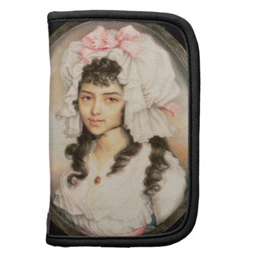 Retrato miniatura de un chica organizadores