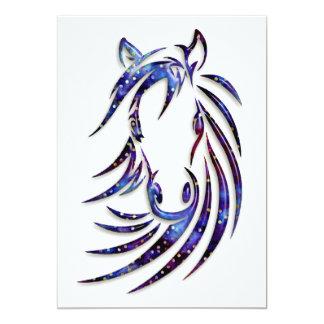 Retrato místico mágico del caballo invitacion personalizada