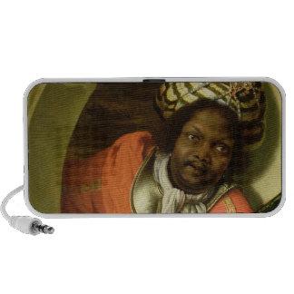 Retrato Moor que celebra una bandera en una ventan Altavoz De Viajar