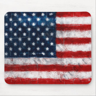 Retrato Mousepad de la bandera americana Tapetes De Ratones