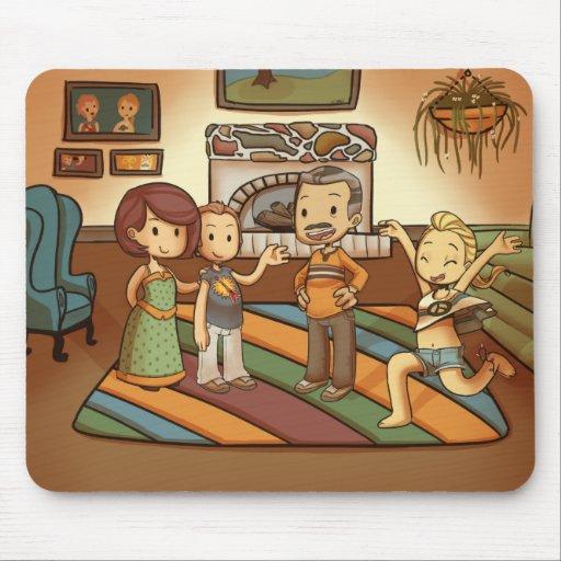 Retrato Mousepad de la familia Alfombrillas De Ratones