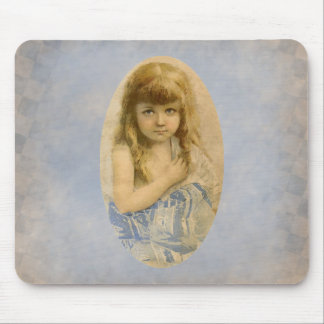 Retrato Mousepad del chica del Victorian del vinta