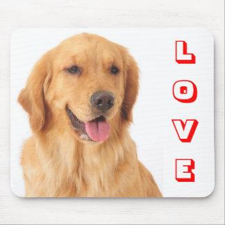Retrato Mousepad del perro de perrito del golden r Tapete De Raton