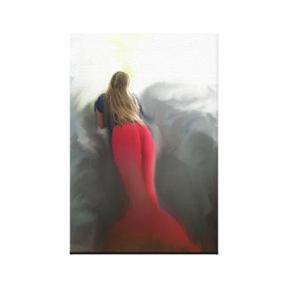 Retrato musical de la sirena de David Pineda-Huezo Lona Estirada Galerias