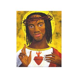 Retrato negro de Jesús Impresión En Lienzo