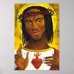 Retrato negro de Jesús Poster