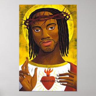 Retrato negro de Jesús Póster