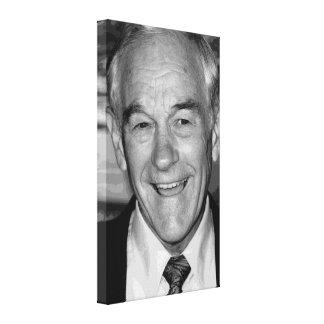 Retrato negro y blanco de Ron Paul Impresión En Lienzo Estirada