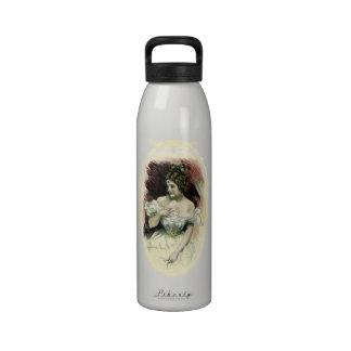 Retrato nupcial del Victorian del vintage Botellas De Beber