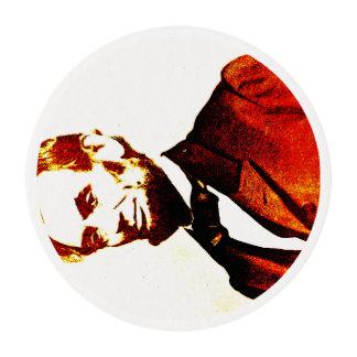 Retrato oblicuo de Colorized del arte pop de Papel De Azúcar Redondo