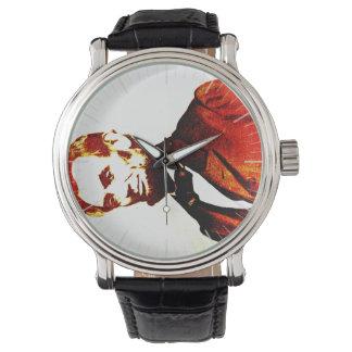 Retrato oblicuo de Colorized del arte pop de Relojes