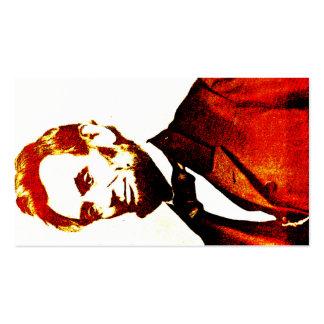Retrato oblicuo de Colorized del arte pop de Tarjetas De Visita
