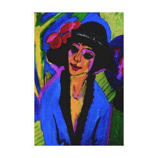 """""""Retrato obra maestra c1914 de Gerda"""" Impresión En Lona"""