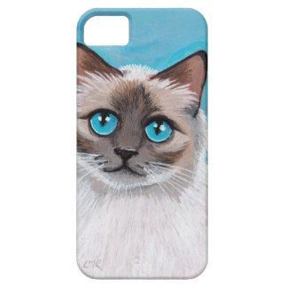 Retrato observado azul del gato de Ragdoll iPhone 5 Funda