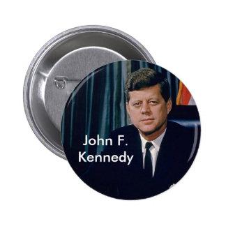 Retrato oficial de JFK del public domain Pin Redondo De 2 Pulgadas